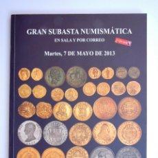Catálogos y Libros de Monedas: A410.- SUBASTA NUMISMATICA.- 7 DE MAYO DE 2013.- MARTI HERVERA - SOLER Y LLACH. Lote 123367223