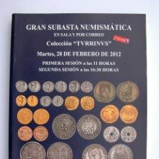 Catálogos y Libros de Monedas: A411.- SUBASTA NUMISMATICA.- 7 DE MAYO DE 2013.- COLECCION TVRRINVS.- MARTI HERVERA - SOLER Y LLACH. Lote 123368467