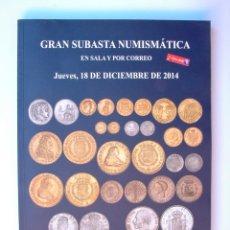 Catálogos e Livros de Moedas: A412.- SUBASTA NUMISMATICA.- 18 DE DICIEMBRE DE 2014.- MARTI HERVERA - SOLER Y LLACH. Lote 123543971