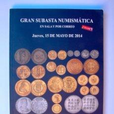 Catálogos y Libros de Monedas: A413.- SUBASTA NUMISMATICA.- 15 DE MAYO DE 2014.- MARTI HERVERA - SOLER Y LLACH. Lote 123544323
