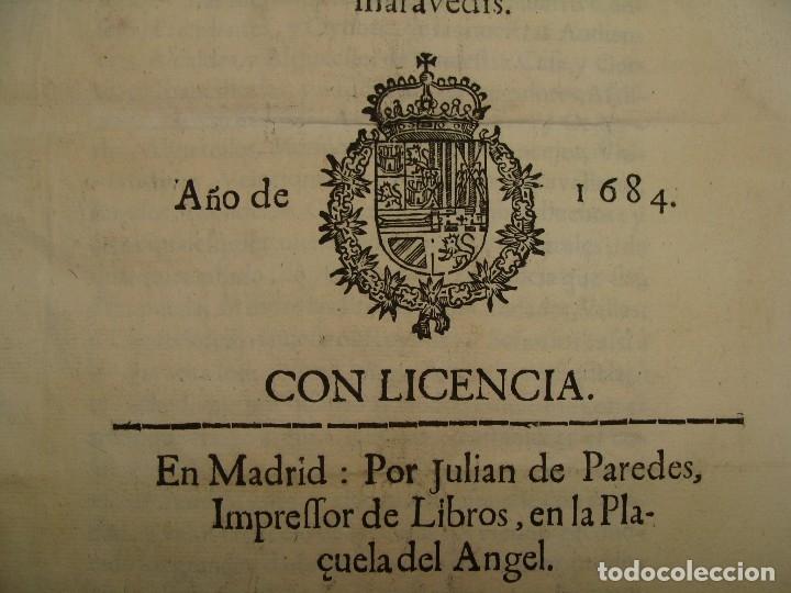 Catálogos y Libros de Monedas: 1684. PRAGMATICA QUE MANDA QUE LA MONEDA DE MOLINO LEGITIMA VUELVA A CORRER. - Foto 3 - 125306835