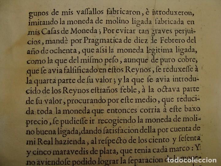 Catálogos y Libros de Monedas: 1684. PRAGMATICA QUE MANDA QUE LA MONEDA DE MOLINO LEGITIMA VUELVA A CORRER. - Foto 5 - 125306835