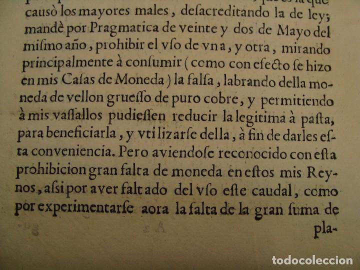 Catálogos y Libros de Monedas: 1684. PRAGMATICA QUE MANDA QUE LA MONEDA DE MOLINO LEGITIMA VUELVA A CORRER. - Foto 6 - 125306835