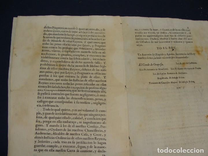 Catálogos y Libros de Monedas: 1684. PRAGMATICA QUE MANDA QUE LA MONEDA DE MOLINO LEGITIMA VUELVA A CORRER. - Foto 7 - 125306835
