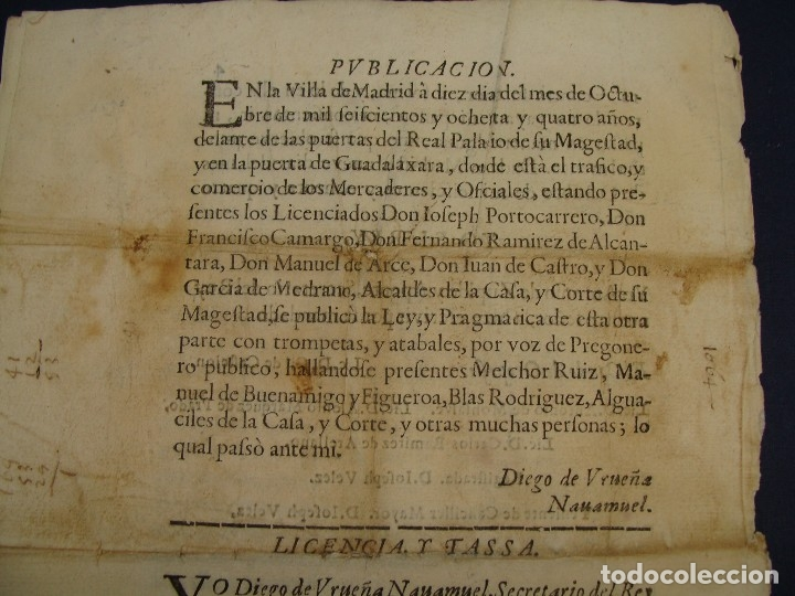 Catálogos y Libros de Monedas: 1684. PRAGMATICA QUE MANDA QUE LA MONEDA DE MOLINO LEGITIMA VUELVA A CORRER. - Foto 8 - 125306835