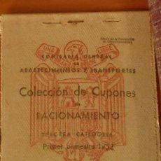 Catálogos y Libros de Monedas: 4 PACS CUPONES DE RACIONAMIENTO DE COMIDA 1954 20€ CADA UNO. Lote 125343592
