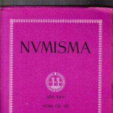 Catálogos y Libros de Monedas: NUMISMATICA - Nº 132/137 - ENERO/DICIEMBRE 1975 - NUMISMA AÑO XXV / ILUSTRADO. Lote 127233375