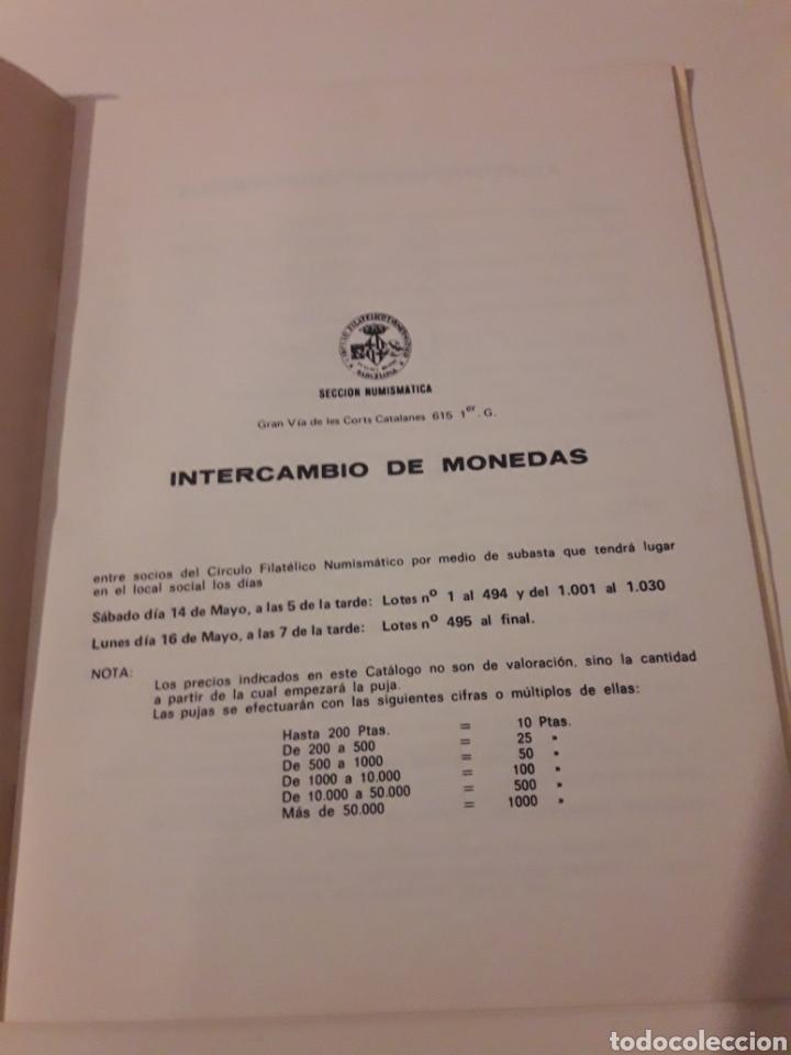 Catálogos y Libros de Monedas: CERCLE FILATELIC I NUMISMATIC BARCELONA SECCIO NUMISMATICA 14 I 16 MAIG 1983 - Foto 2 - 127516283