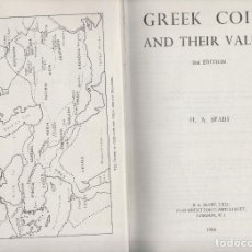 Catálogos y Libros de Monedas: CATALOGO DE MONEDAS GRIEGAS-GREEK COINS AND THEIR VALUES-H.A.SEABY-1966. Lote 130084391
