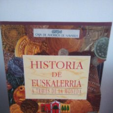 Catálogos y Libros de Monedas: HISTORIA DE EUSKALERRIA A TRAVES DE LA MONEDA - ED. HERPER -. Lote 130195843