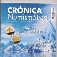 Catálogos y Libros de Monedas: REVISTA CRÓNICA NUMISMÁTICA - Nº177 - 15 ENERO 2006. Lote 130256518