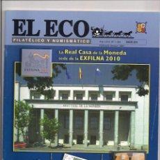 Catálogos y Libros de Monedas: REVISTA - EL ECO FILATÉLICO Y NUMISMÁTICO - Nº1.183 - MARZO 2010. Lote 130257694