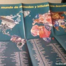 Catálogos y Libros de Monedas: POSTER DE MONEDAS Y BILLETES. Lote 130607134