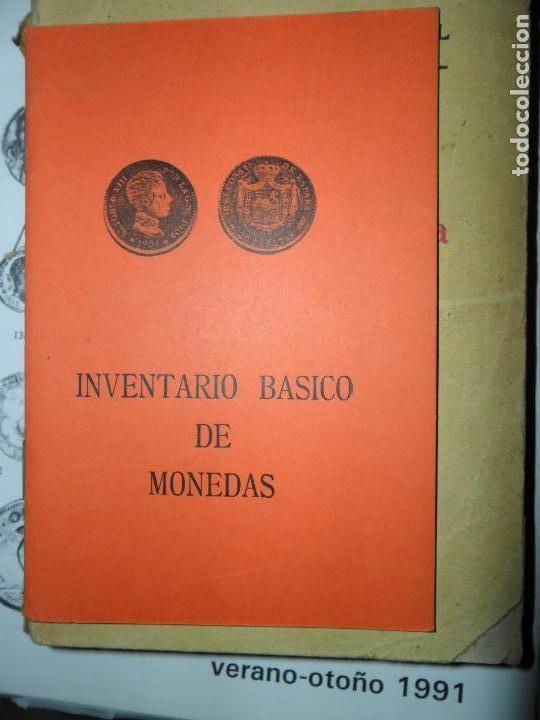 INVENTARIO BÁSICO DE MONEDAS DESDE LA PESETA (Numismática - Catálogos y Libros)