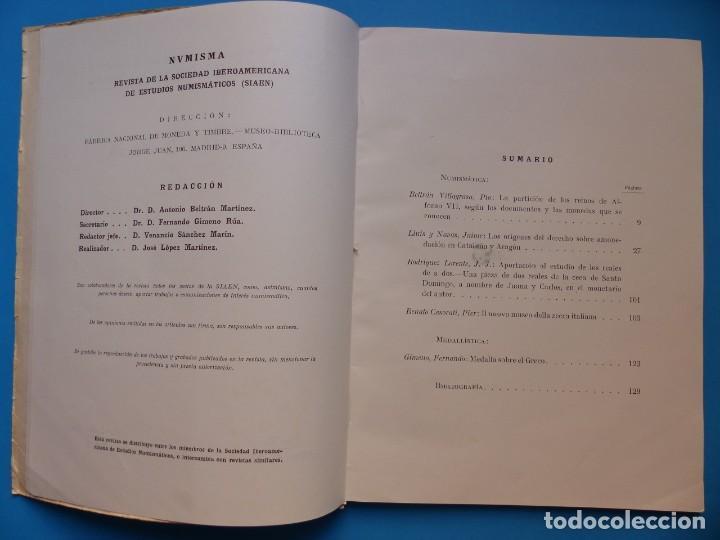 Catálogos y Libros de Monedas: NUMISMATICA - Nº 48-49-50-51-52-53 - ENERO/DICIEMBRE 1961 - NUMISMA AÑO XI - Foto 3 - 135436850