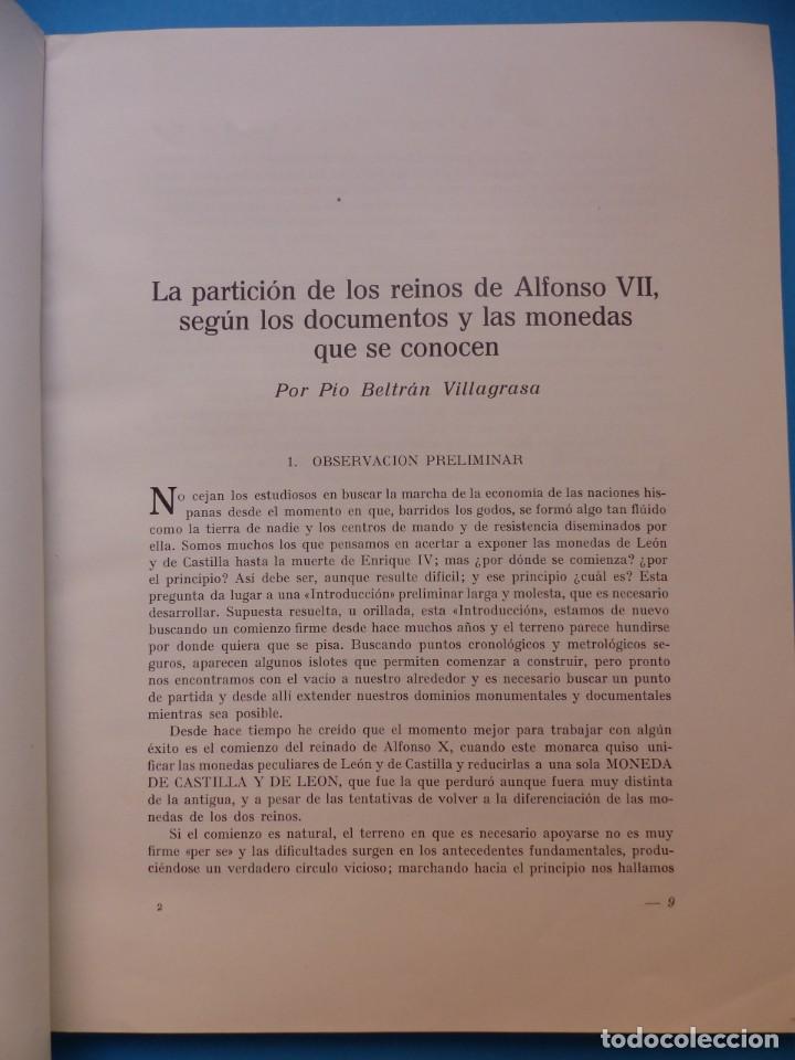 Catálogos y Libros de Monedas: NUMISMATICA - Nº 48-49-50-51-52-53 - ENERO/DICIEMBRE 1961 - NUMISMA AÑO XI - Foto 4 - 135436850