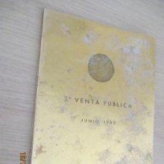 Catálogos y Libros de Monedas: 3ª VENTA PÚBLICA DE JUAN R. CAYÓN. MONEDAS Y MEDALLAS. 1968 MADRID HOTEL MELIÁ. Lote 136491922