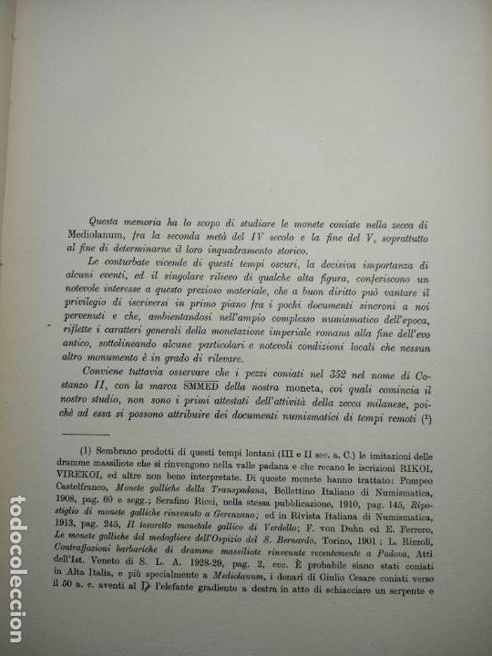 Catálogos y Libros de Monedas: IMPORTANTE OBRA EN ITALIANO - MONETA MEDIOLANENSIS ( 352-498) OSCAR ULRICH-BANSA - 27 LÁMINAS - - Foto 11 - 136762374