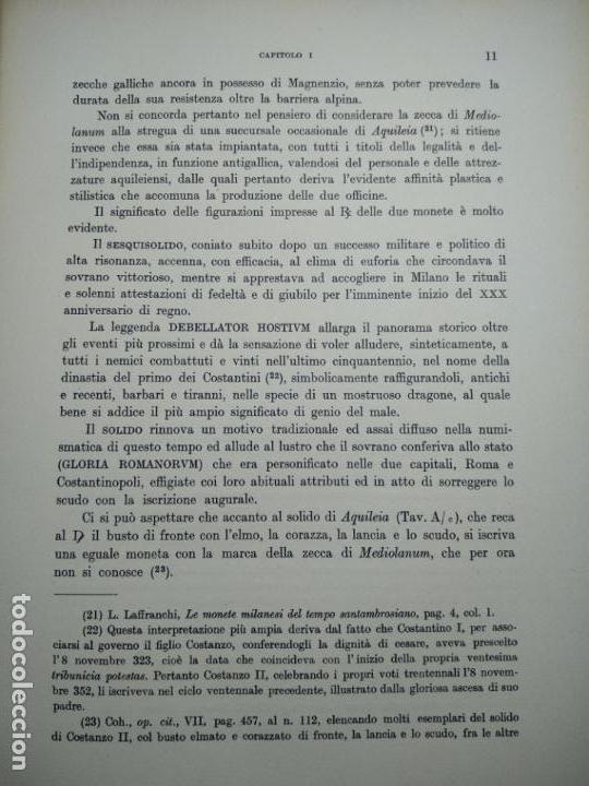 Catálogos y Libros de Monedas: IMPORTANTE OBRA EN ITALIANO - MONETA MEDIOLANENSIS ( 352-498) OSCAR ULRICH-BANSA - 27 LÁMINAS - - Foto 14 - 136762374