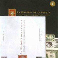 Cataloghi e Libri di Monete: LA HISTORIA DE LA PESETA A TRAVÉS DE SUS BILLETES Y SELLOS. FASCÍCULO NÚMERO 1. Lote 138888142