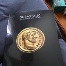 Catálogos y Libros de Monedas: CATÁLOGO SUBASTA TAULER &FAU 20 (28-11-2018). Lote 139535342
