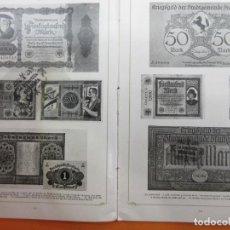 Catálogos y Libros de Monedas: ARTICULO 1923 - RELAJACION PAPEL MONEDA EN EUROPA CENTRAL Y NORDICA IMAGENES DE SUS BILLETES 15 PAG. Lote 140899850