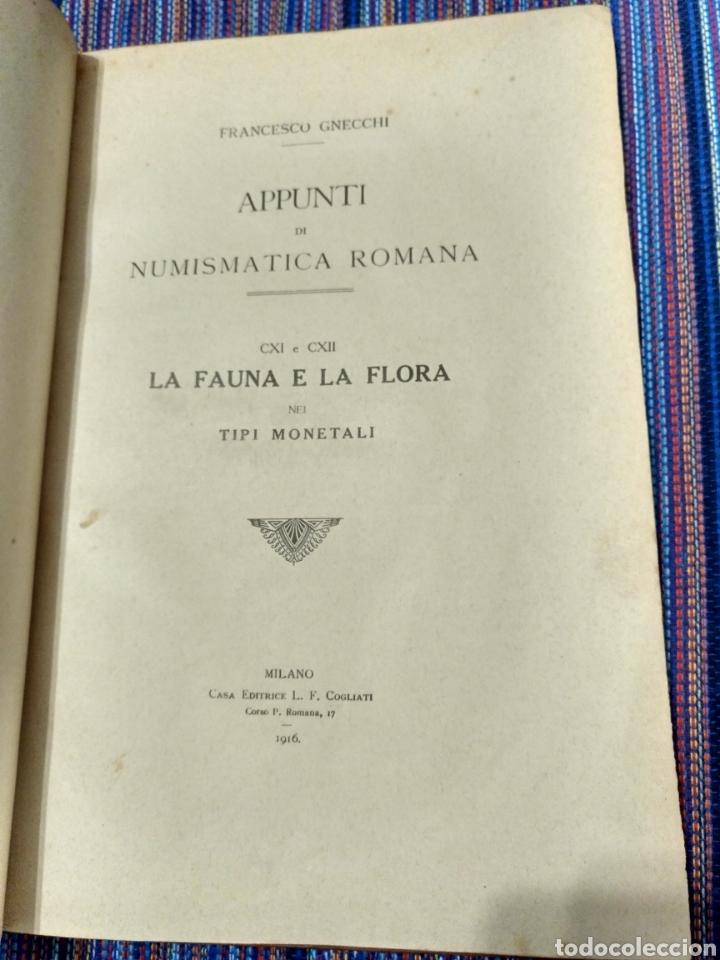 Catálogos y Libros de Monedas: 1916 LA FAUNA E LA FLORA. FRANCESCO GNECCHI. 130 PÁGINAS. RARO LIBRO. - Foto 4 - 140967017