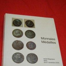 Catálogos y Libros de Monedas: CATALOGO SUBASTA MONEDAS Y MEDALLAS FRANCIA, MONACO, OTROS PAISES - HOTEL NEGRESCO NIZA 1976 (EN FRA. Lote 141940474