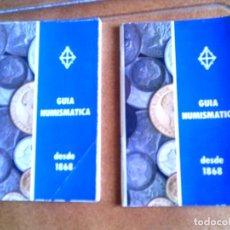 Catálogos y Libros de Monedas: LOTE DE CATALOGOS GUIA NUNISMASTICA DESDE 1868 HASTA 1978 A COLOR. Lote 142950850