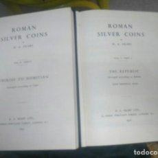 Catálogos y Libros de Monedas: ROMAN SILVER COINS.1952 DOS TOMOS.AUTOR:H.A.SEABY.REPUBLICA-AUGUSTO Y TIBERIO-DOMICIANO.. Lote 144347066