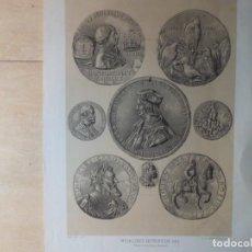 Catálogos y Libros de Monedas: ESPECTACULAR LITOGRAFIA DE MONEDAS ANTIGUAS SIGLO XIX. Lote 145104406