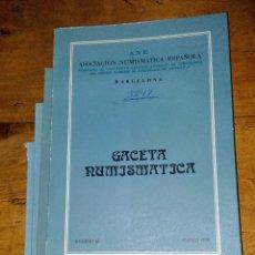 Catálogos e Livros de Moedas: ANE 4 LIBROS, GACETA NUMLSMÁTICA 1976. Lote 145116784