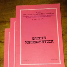 Catálogos y Libros de Monedas: ANE 3 LIBROS GACETA NUMISMÁTICA 1977. Lote 145118294