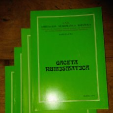 Catálogos y Libros de Monedas: ANE 4 LIBROS GACETA NUMISMÁTICA DEL 1979. Lote 145120432