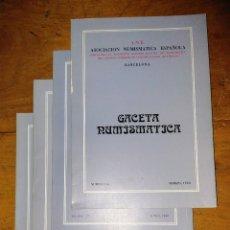 Catálogos y Libros de Monedas: ANE 4 LIBROS GACETA NUMISMÁTICA DEL 1980. Lote 145122226