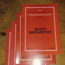 Catálogos y Libros de Monedas: ANE 4 LIBROS GACETA NUMISMÁTICA DEL 1982. Lote 145124604