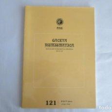 Catálogos y Libros de Monedas: GACETA NUMISMATICA ANE 121. Lote 145736966