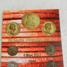 Catálogos y Libros de Monedas: SUBASTA NUMISMÁTICA MAYO 2013 - JOSÉ A. HERRERO MONEDAS Y MEDALLAS.. Lote 145800542