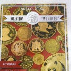 Catálogos y Libros de Monedas: SUBASTA NUMISMÁTICA AUREO & CALICÓ - JUNIO DE 2015 - COLECCIÓN AVI MIQUEL . Lote 145805566