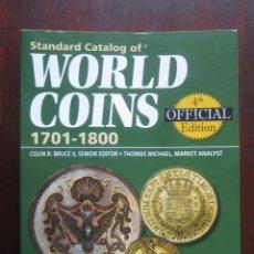 Catálogos y Libros de Monedas: STANDARD CATALOG OF WORLD COINS 1701-1800. Lote 146349426