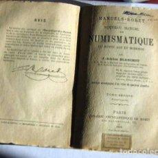 Catálogos y Libros de Monedas: ENCYCLOPEDIE RORET -PARIS 1890. Lote 146490370