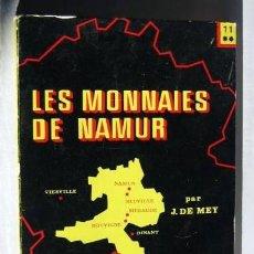 Catálogos y Libros de Monedas: LES MONNAIES DE NAMUR - J. LE MEY. Lote 146490950