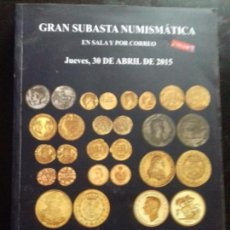 Catálogos y Libros de Monedas: SUBASTA. MARTI HERVERA. ABRIL - 2015.. Lote 147682914