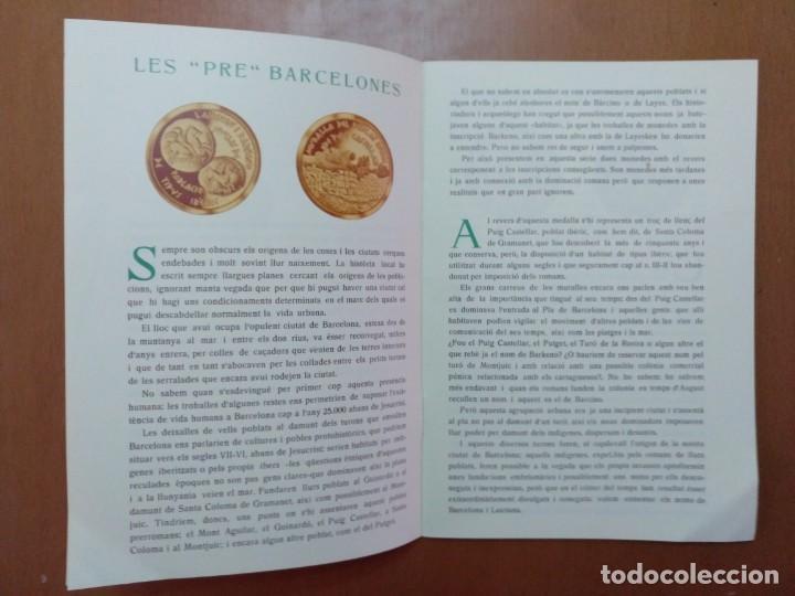 Catálogos y Libros de Monedas: BARCELONA A TRAVES DEL TEMPS FREDERIC UDINA MEDALLES D'OR I ARGENT 1971 - Foto 2 - 147845662