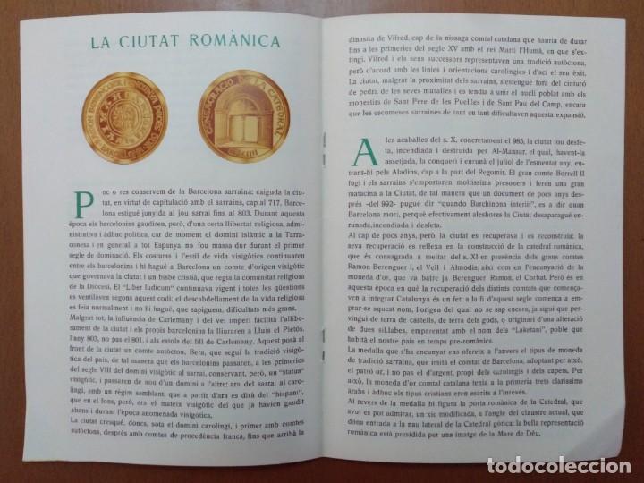 Catálogos y Libros de Monedas: BARCELONA A TRAVES DEL TEMPS FREDERIC UDINA MEDALLES D'OR I ARGENT 1971 - Foto 5 - 147845662