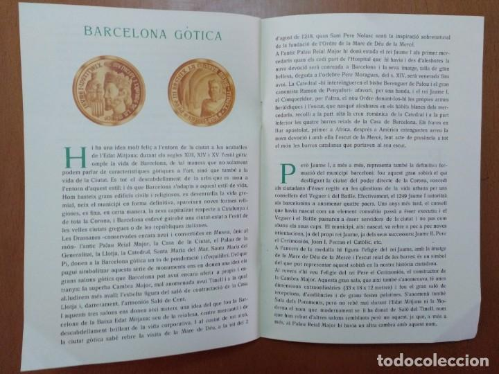Catálogos y Libros de Monedas: BARCELONA A TRAVES DEL TEMPS FREDERIC UDINA MEDALLES D'OR I ARGENT 1971 - Foto 6 - 147845662