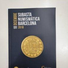 Catálogos y Libros de Monedas: SUBASTA NUMISMATICA BARCELONA. 18 DICIEMBRE DE 2018. MARTI HERVERA. SOLER Y LLACH. TDKR36. Lote 148161134