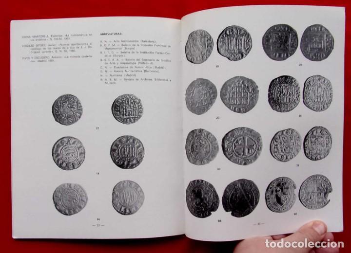 Catálogos y Libros de Monedas: LA CECA DE BURGOS. AÑO: 1983. BUEN ESTADO. ACUÑACIONES DE MONEDA. SIGLOS XI AL XVIII. - Foto 3 - 195326466