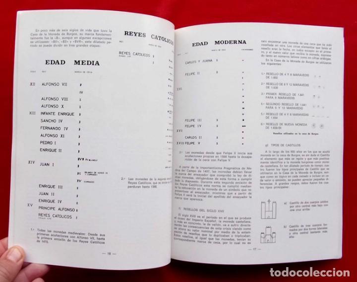 Catálogos y Libros de Monedas: LA CECA DE BURGOS. AÑO: 1983. BUEN ESTADO. ACUÑACIONES DE MONEDA. SIGLOS XI AL XVIII. - Foto 4 - 195326466
