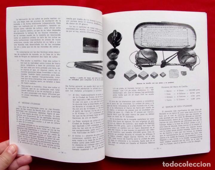 Catálogos y Libros de Monedas: LA CECA DE BURGOS. AÑO: 1983. BUEN ESTADO. ACUÑACIONES DE MONEDA. SIGLOS XI AL XVIII. - Foto 6 - 195326466
